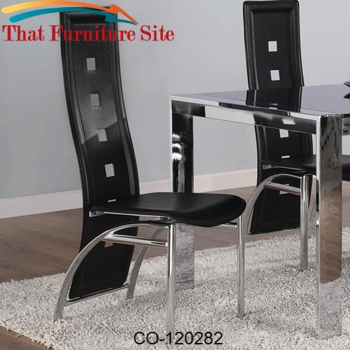 Broward Dining Side Chair with Bonded Leather Seats by Coaster Furnitu