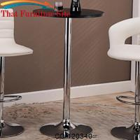 Bar Units and Bar Tables Round Bar Table with Chrome Base by Coaster Furniture