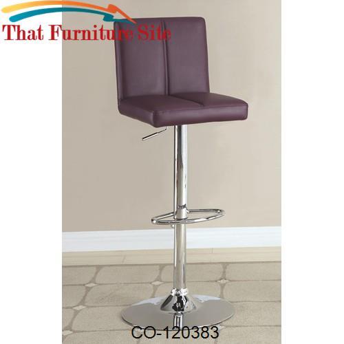 Bar Units And Bar Tables Purple Adjustable Bar Stool By Coaster Furnit
