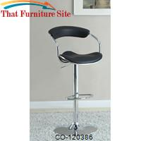 Bar Units and Bar Tables Black Adjustable Bar Stool by Coaster Furniture