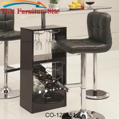 Bar Units and Bar Tables Black Bar Table by Coaster Furniture  | Austi