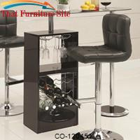Bar Units and Bar Tables Black Bar Table by Coaster Furniture