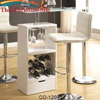Bar Units and Bar Tables White Bar Table by Coaster Furniture