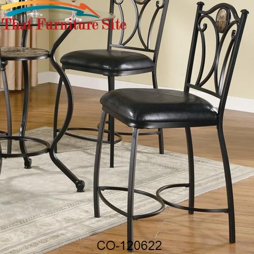 Tremendous Monroe Metal Counter Height Chair With Stone Accent And Faux Leather Seat Beatyapartments Chair Design Images Beatyapartmentscom