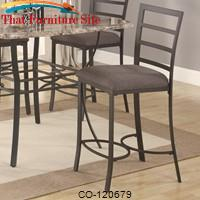 Ashford Counter Height Pub Stool with Fabric Seat by Coaster Furniture