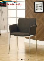 Dining 120 Coffee Upholstered Dining Chair with Chrome Legs by Coaster Furniture