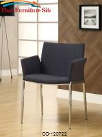 Dining 120 Charcoal Upholstered Dining Chair with Chrome Legs by Coaster Furniture