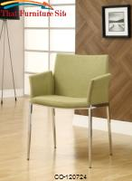 Dining 120 Pear Upholstered Dining Chair with Chrome Legs by Coaster Furniture