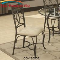 120830 Dining Side Chair with Upholstered Seat by Coaster Furniture
