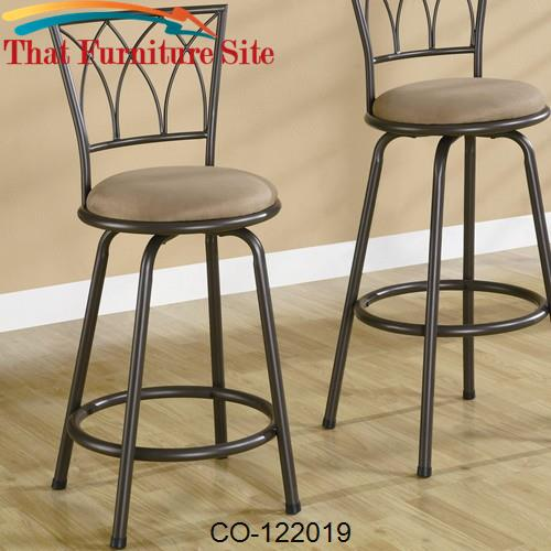 Brilliant Dining Chairs And Bar Stools 24 Metal Bar Stool With Upholstered Seat Ibusinesslaw Wood Chair Design Ideas Ibusinesslaworg
