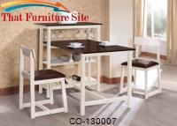 130007 3 Piece Breakfast Table & Stool Set with Built-In Storage by Coaster Furniture