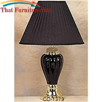 Talbe Black Lamp  Pumpkin Shape by Coaster Furniture