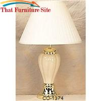 Table Beige Lamp  Pumpkin Shape by Coaster Furniture