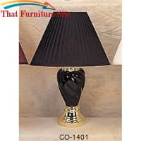Table Black Lamp  Spiral Shape by Coaster Furniture