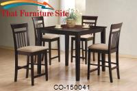 Mix & Match 5 Piece Counter Height Dining Set by Coaster Furniture