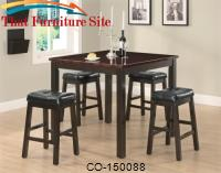 Sophia 5 Piece Rosewood Style Counter Height Dining Set by Coaster Furniture
