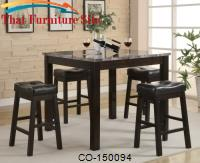 Sophia 5 Piece Counter Table and Chair Set by Coaster Furniture