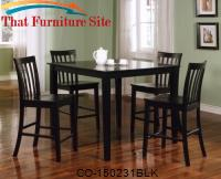 Ashland 5 Piece Counter Height Dining Set by Coaster Furniture