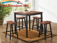 Yates 5 Piece Counter Height Dining Set by Coaster Furniture