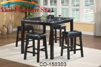 Sophia 5 Piece Marble Look Counter Height Dining Set by Coaster Furniture