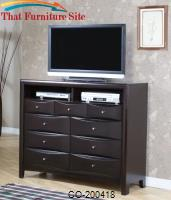 Phoenix Contemporary TV Dresser with 9 Drawers and 2 Media Compartments by Coaster Furniture