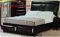 Phoenix California King Upholstered Storage Platform Bed by Coaster Furniture