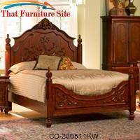 Isabella California King Carved Bed by Coaster Furniture