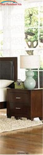Tiffany 2 Drawer Nightstand by Coaster Furniture  | Austin