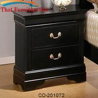 Louis Philippe 2 Drawer Night Stand by Coaster Furniture