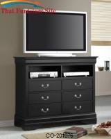 Louis Philippe Media 6 Drawer Chest by Coaster Furniture