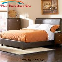 Tamara California King Faux Leather Upholstered Bed by Coaster Furniture