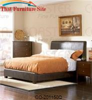 Tamara Queen Faux Leather Upholstered Bed by Coaster Furniture
