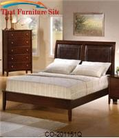 Tamara Queen Platform Bed with Upholstered Faux Leather by Coaster Furniture