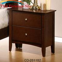 Tamara Contemporary 2 Drawer Night Stand by Coaster Furniture