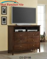 Tamara Media Chest with 6 Drawers and 2 Compartments by Coaster Furniture