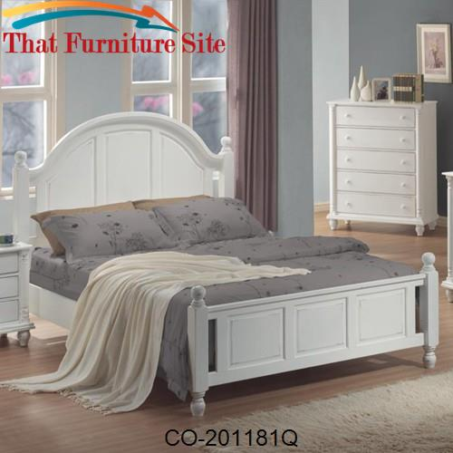 Kayla Queen Panel Bed by Coaster Furniture  | Austin