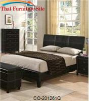 Danielle Queen Upholstered Headboard Bed by Coaster Furniture