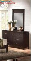 Kendra Contemporary Mirror with Beveled Moldings by Coaster Furniture