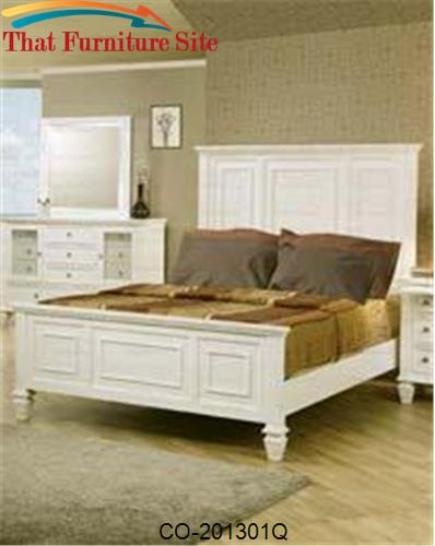 Sandy Beach Classic Queen High Headboard Bed by Coaster Furniture  | A