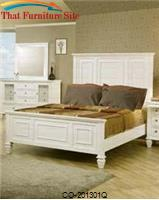 Sandy Beach Classic Queen High Headboard Bed by Coaster Furniture