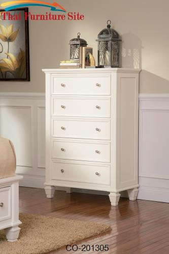 Sandy Beach 5 Drawer Chest by Coaster Furniture  | Austin