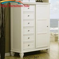 Sandy Beach 8 Drawer Chest with Sliding Door by Coaster Furniture