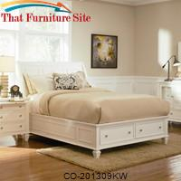 Sandy Beach California King Sleigh Bed with Footboard Storage by Coaster Furniture