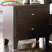Lorretta Contemporary 2 Drawer Night Stand by Coaster Furniture