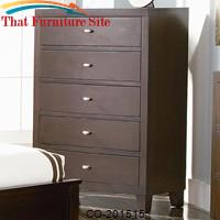 Lorretta Contemporary Chest with 5 Drawers by Coaster Furniture