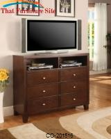 Lorretta Contemporary TV Dresser with Shelves and Drawers by Coaster Furniture
