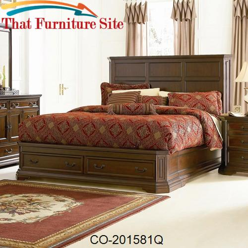 Foxhill Queen Platform Bed by Coaster Furniture  | Austin