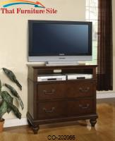 Sidney Media Chest with 2 Large Drawers and Spacious Opening by Coaster Furniture