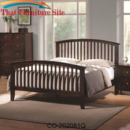 Tia Queen Headboard & Footboard Bed with Tapered Legs by Coaster Furni