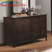 Tia 6 Drawer Dresser with Brushed Nickel Hardware by Coaster Furniture